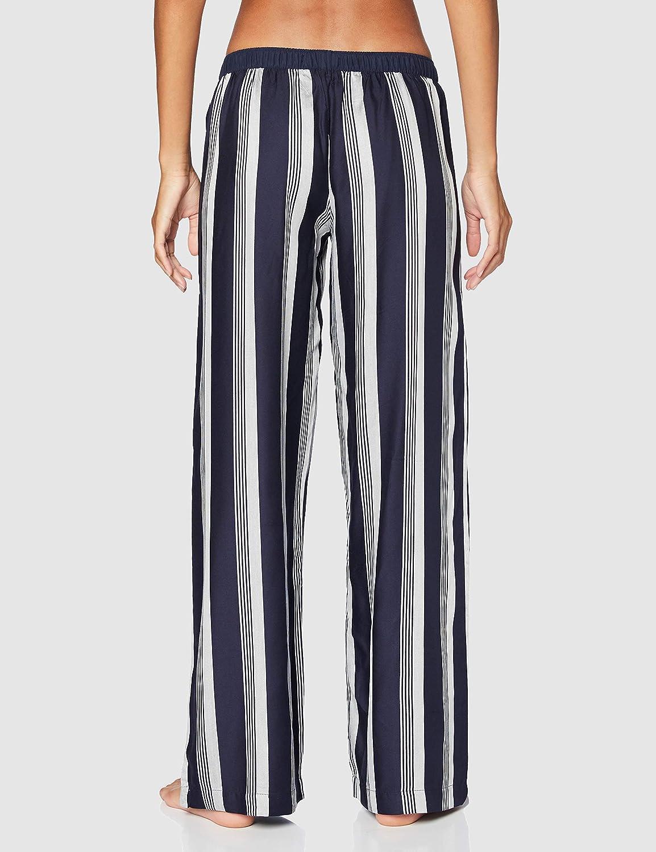 Tommy Hilfiger Womens Wide Leg Pant Stripe Pajama Bottom