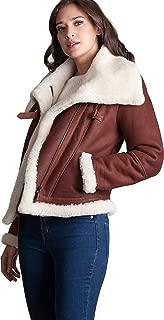 Tiffany Asymmetric Sheepskin Bomber Jacket