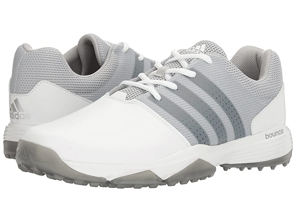 Image of adidas Golf 360 Traxion (Ftwr White/Silver Metallic/Silver Metallic) Men's Golf Shoes