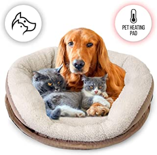 SereneLife Electric Heated Pet Warmer Bed | Low Power Warming Heating Soft Cushion Sleeping Blanket Dog Cat Bed Warmer Pad...