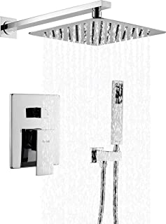 Esnbia Shower System, Chrome Shower Faucet Set with Valve and 10