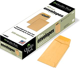 Quality Park #3 Coin and Small Parts Envelopes Gummed, Brown Kraft, 2.5x4.25, 500 per Box (50262)