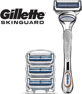 Gillette SkinGuard Men's Razor for Sensitive Skin, Handle + 4 Refills,1 Set