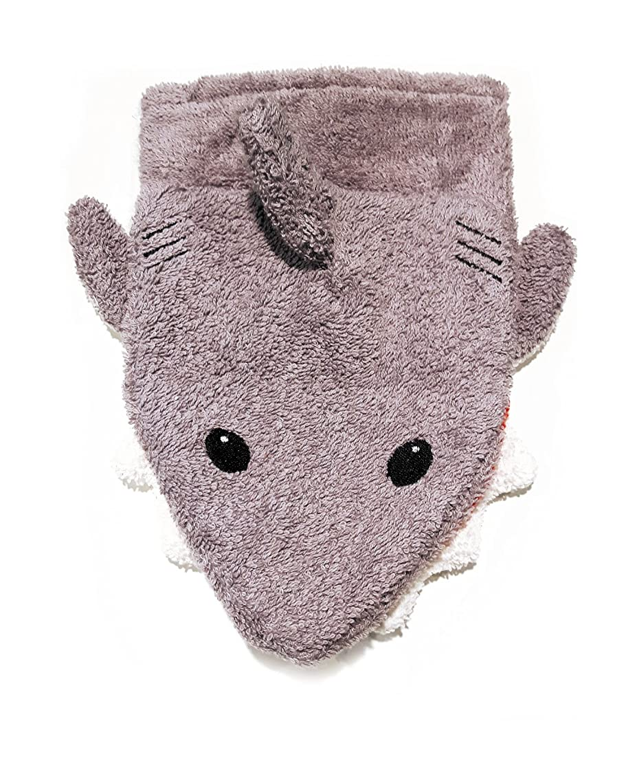 Organic Cotton, Washcloth Mitt Shark Puppet, Large by Furnis