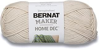 Bernat Maker Home Dec Yarn, 8.8oz, Guage 5 Bulky Chunky, Cream