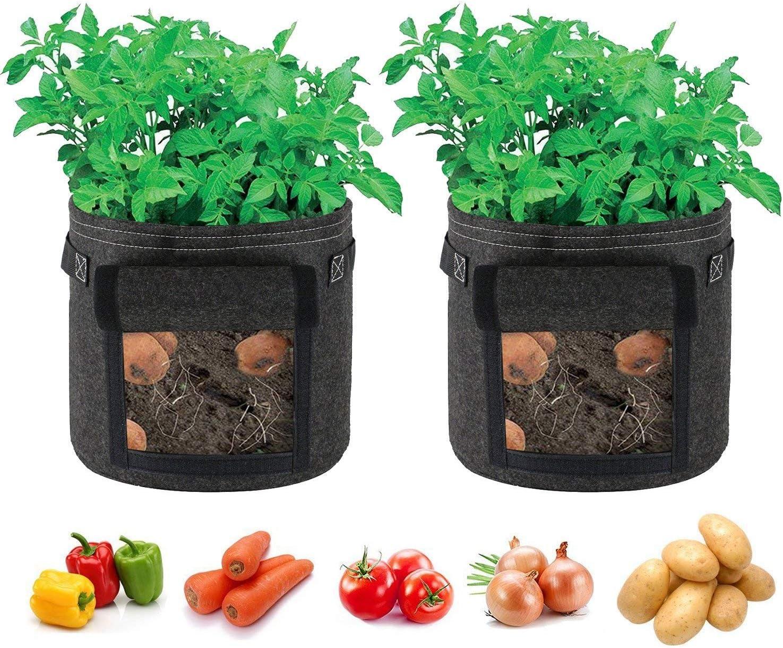Arlington Mall Singpad Potato Grow Bags 2-Pack Plant 7 Garden Vegetables Max 78% OFF Gallon