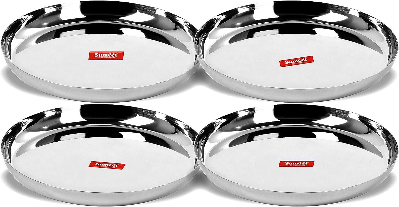 Sumeet Stainless Max 59% OFF sale Steel Apple Shape Gauge wit Dinner Plates Heavy