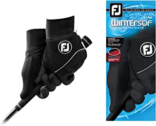 FootJoy Men's WinterSof Golf Gloves, Pair (Black)