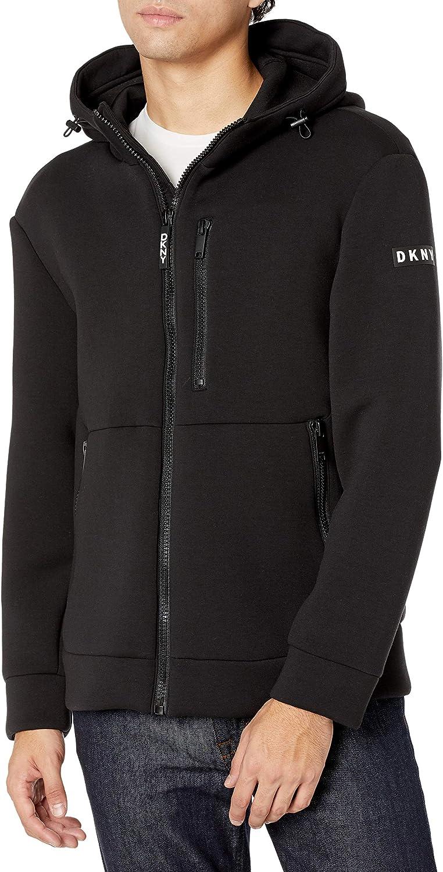 DKNY Men's Brian Hooded Neoprene Jacket