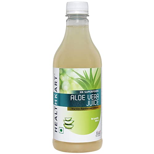 HealthKart Aloe Vera Juice extracted from Indica Variety with amino acids, Vitamins & minerals, 500ml