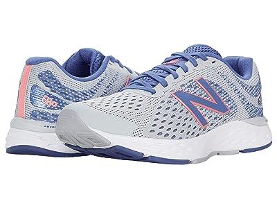 New Balance 680v6 (Light Aluminum/Magnetic Blue) Women