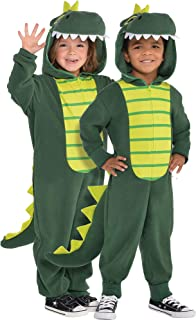 Zipster Dinosaur One Piece Halloween Costume for Toddlers, Attached Hood and Tail Included