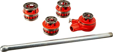 RIDGID 36480 12-R Exposed Ratchet Threader Set, Ratcheting Pipe Threading Set of 1/2-Inch to 1-1/4-Inch NPT Pipe Threading Dies and Manual Ratcheting Pipe Threader with Carrying Case