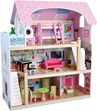 Kids House Casa de Muñecas de Madera con Muebles - Mila -