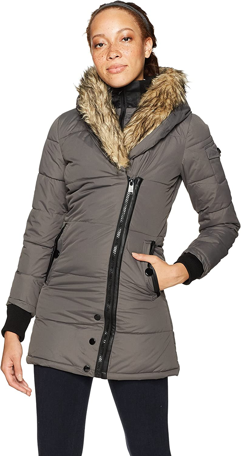 Celsius Womens Standard Heavyweight Wellon Coat with Oversized Hood