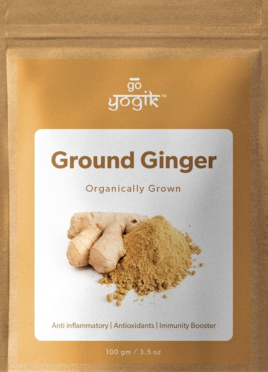 Go-Yogik Dry Ginger powder Ranking TOP19 100g Strong 3.5Oz Max 52% OFF flavor -Organic