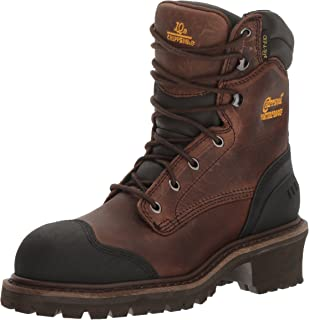 Men's 8 Inch Chocolate Oiled Waterproof Comp Toe Logger Boot