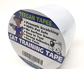 Cat Training Tape - Prevent Scratching   Clear Double Sided Tape   Furniture Protector & Scratch Deterrent   Sticky Double Sided Pet Repellant   Safe for Wood Furniture, Leather Sofas & Couches