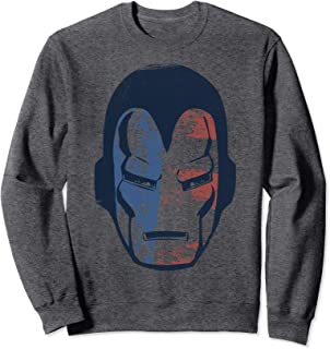 Marvel Iron Man American Flag Face Vintage Sweatshirt