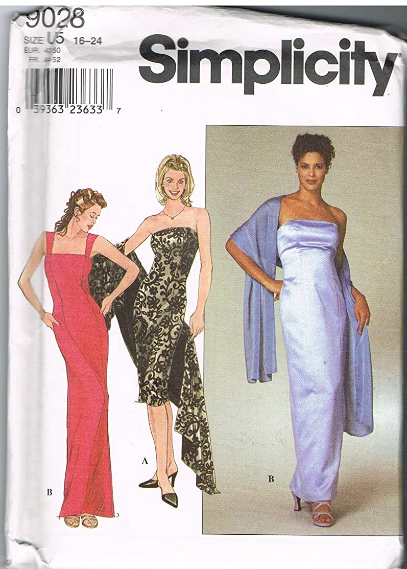 Simplicity 9028 Formal Dresses Pattern