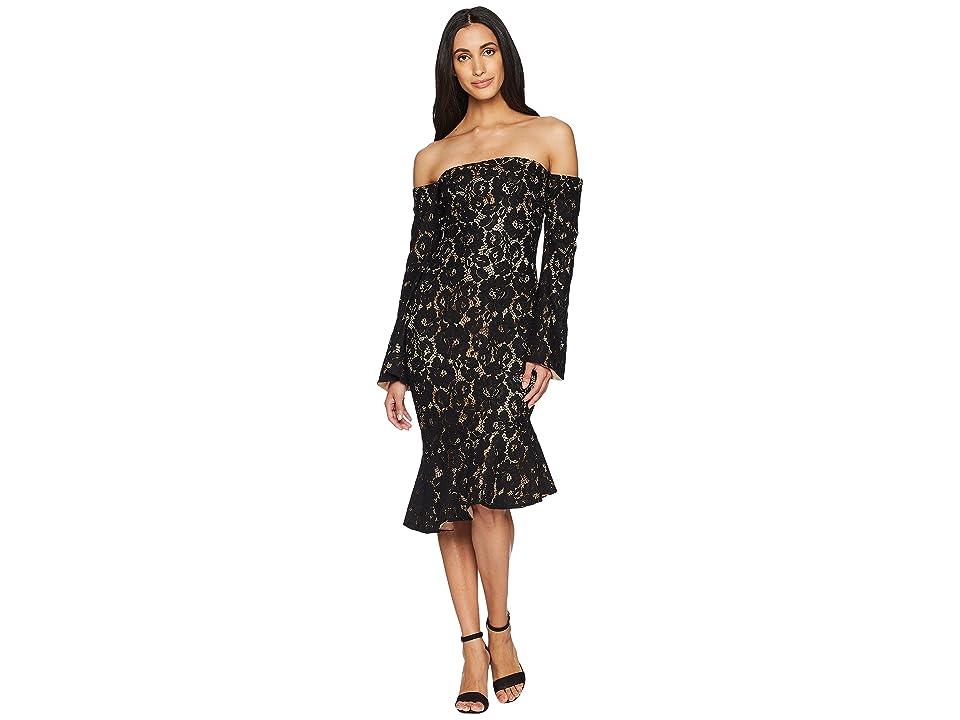 MINKPINK Marseille Lace Dress (Black) Women