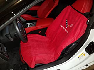 ZIC Motorsports Corvette C7 Seat Towel Protection by Seat Armour - Red
