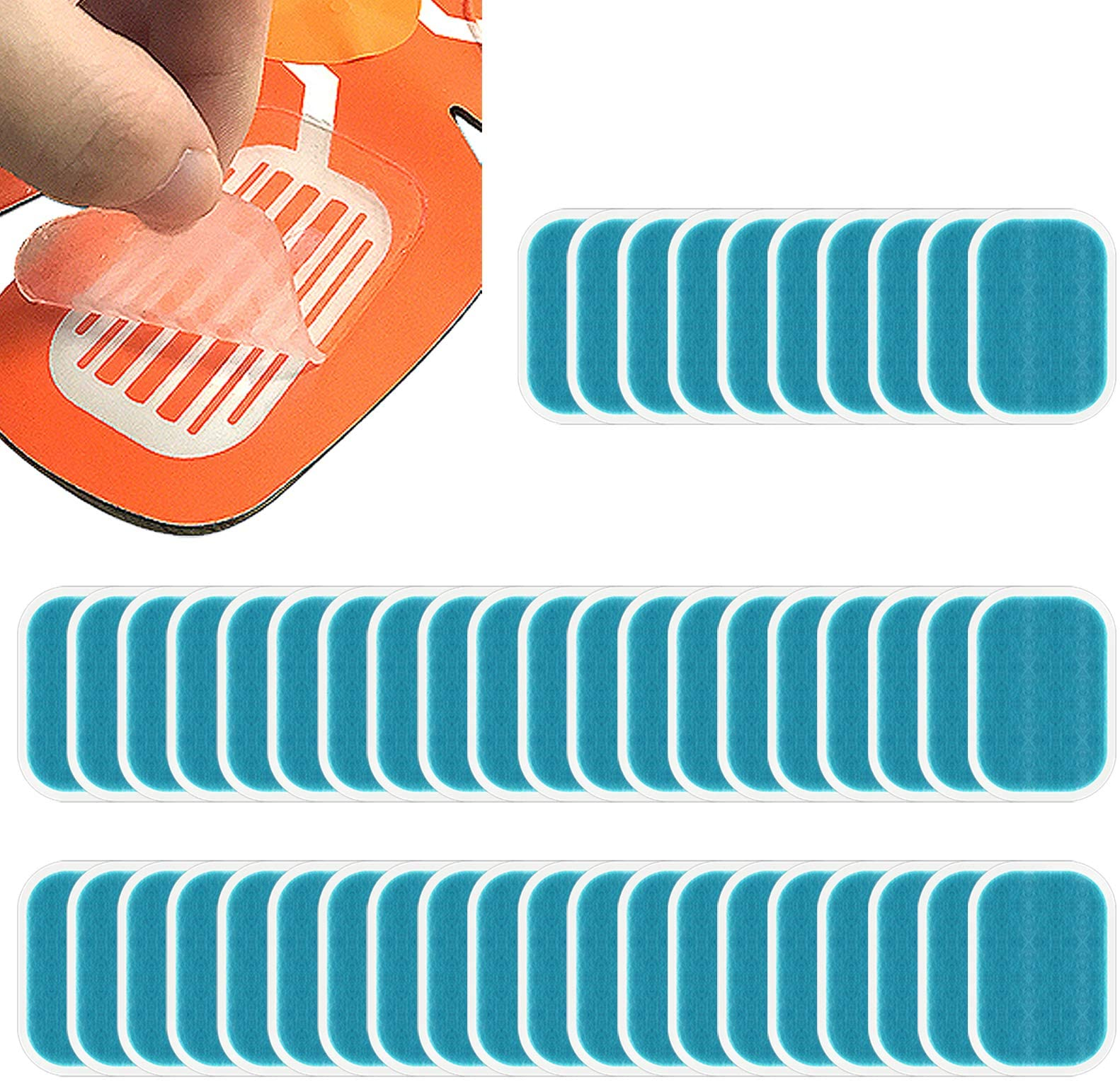 50xHydrogel Adhesive Sheet Pad Fitness Abdominal Muscles Toning Belt 38*56MM