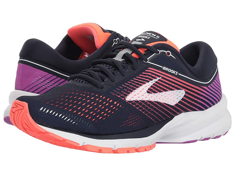 Brooks Launch 5 (Navy/Coral/Purple) Women