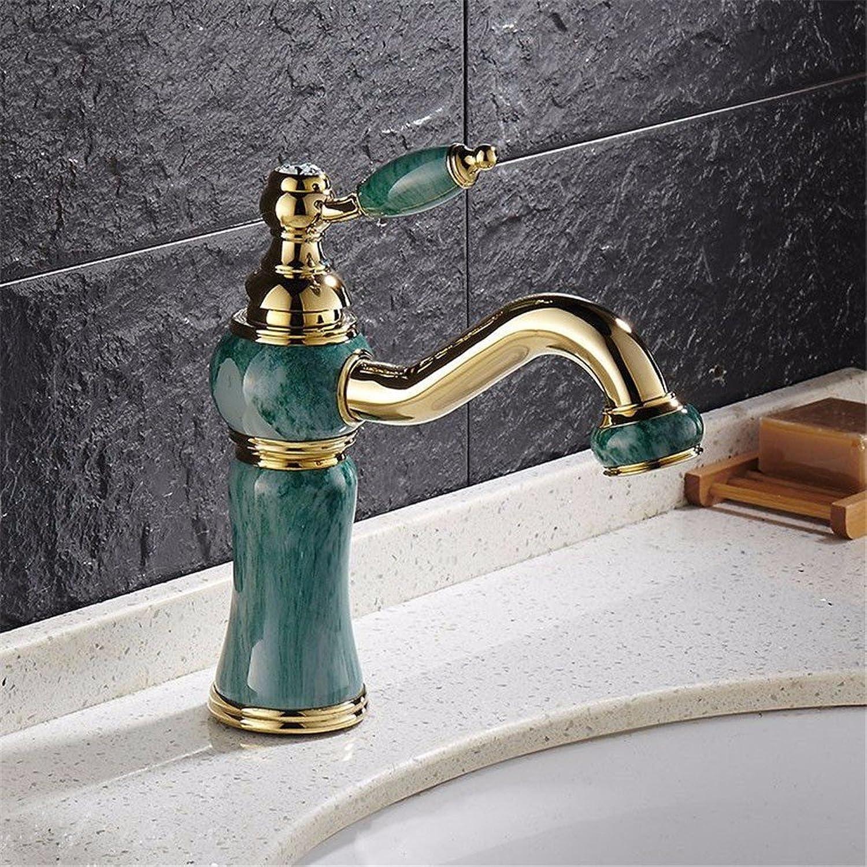 Bijjaladeva Wasserhahn Bad Wasserfall Mischbatterie Waschbecken Waschtisch Armatur für BadezimmerAntike Nachahmung Jade Lackiert Bad Armatur 360 rotierende Waschtischmischer B