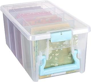 ArtBin Art Craft Storage Box Super Semi-Satchel-Clear with Aqua Handle, 6925AA