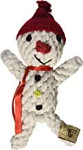 Jax and Bones Good Karma Holiday Rope Dog Toy, 6-Inch, Scott The Snowman