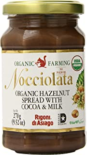 Rigoni Di Asiago Nocciolata  Hazelnut Spread, Cocoa and Milk, 9.52 Ounce Jar