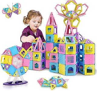 HOMOFY 88pcs Castle Magnetic Blocks – Learning & Development Magnetic Tiles..