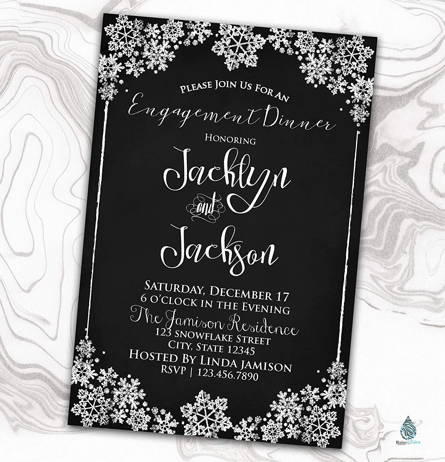 Direct store Snowflake 2021 spring and summer new Engagement Invitation - Winter Invite Wedding Shower