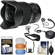 Sigma 20mm f/1.4 Art DG HSM Lens with USB Dock + Sling Strap + Flash Diffusers + Kit for Nikon Digital SLR Cameras