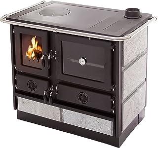 Cocina de leña con estructura en acero fundido MALINA Purline
