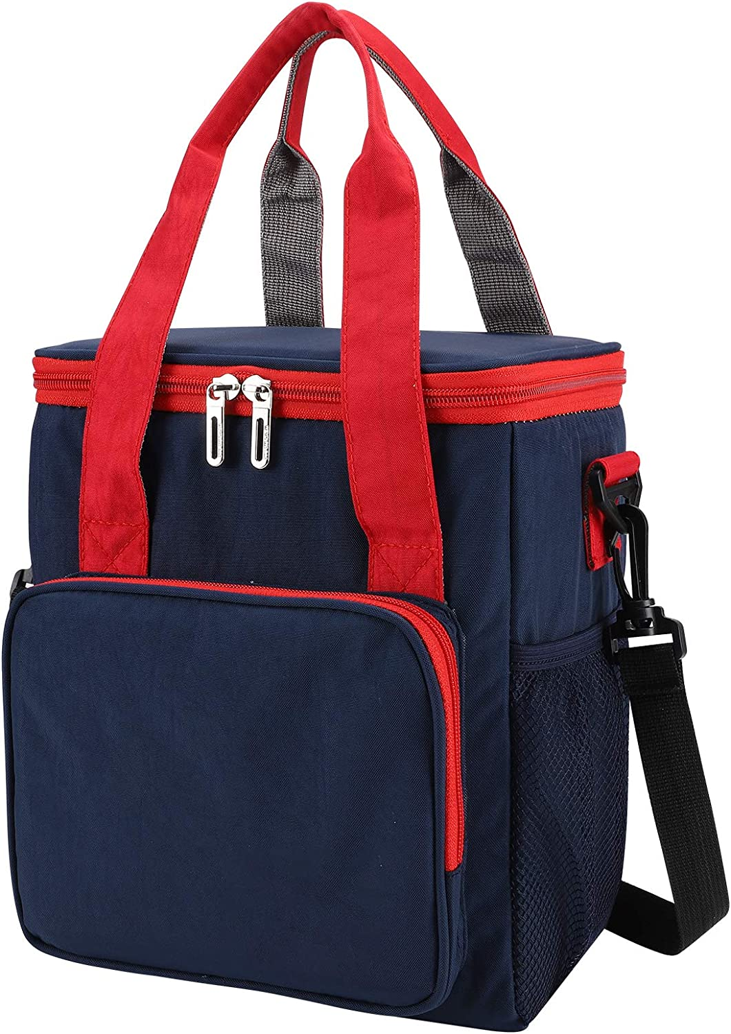 Fufengz Mens Insulated Lunch Tote Bag boxes Leak Proof Lunch Bags for Women Adjustable Shoulder Strap Bag Thermal Insulation Bag (Navy Blue)