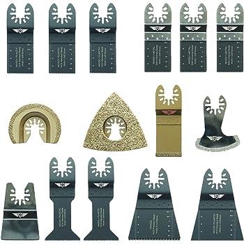 Makita Milwaukee Ryobi Worx Multi herramienta accesorios No-StarLock 6 x TopsTools FAKD6 Cuchillas de diamante para lechada para Dewalt Stanley Black and Decker Bosch Fein