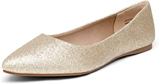 DREAM PAIRS Women's Casual Pointed Toe Ballet Comfort Soft Slip On Flats Shoes