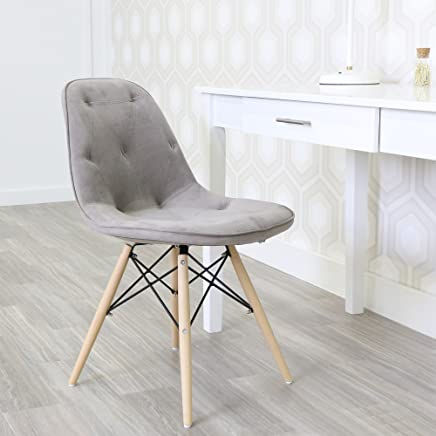 featured product WE Furniture Grey Upholstered Eames Chairs - Set of 2