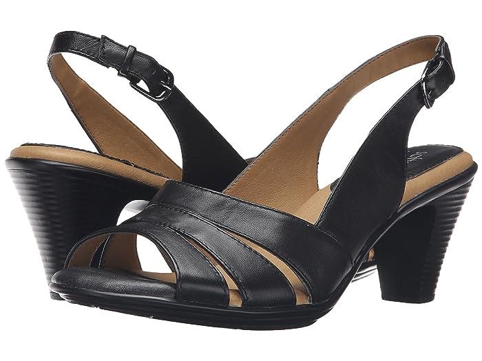 Comfortiva  Neima - Soft Spots (Black Velvet Sheep Nappa) Womens Dress Sandals