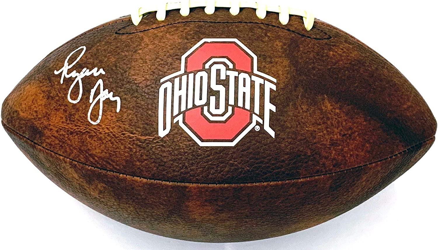 Ryan Day Autographed Ohio State B Buckeyes Vintage Choice OFFicial mail order Logo Football