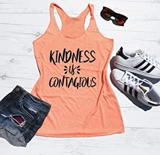 Kindness is Contagious Tank Top, Cute Kindness Tank, Be Kind Tank Top, Anti Bullying Tank, Workout Tank, Gym Tank, Racerback Tank Womens, Workout Shirt