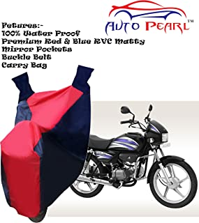 100% Water Proof PVC Bike Body Cover with Mirror Pockets, Buckle Belt, Carry Bag -MotoCorp Splendor