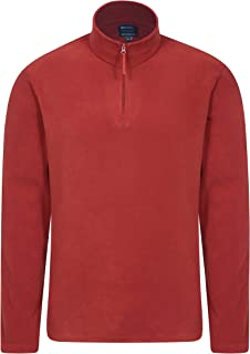 Mountain Warehouse Mens Camber Fleece Top - Lightweight Top, Breathable Sweater, Quick Drying Pullover, Extra Ventilation ...