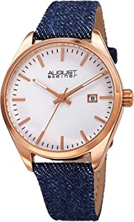 August Steiner Womens Quartz Watch, Analog Display and Leather Strap AS8266RG