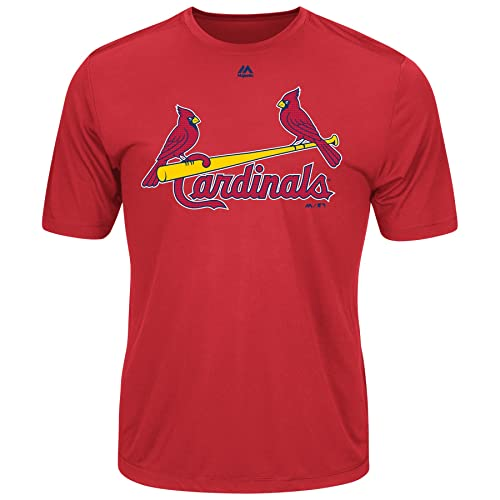 40a1239e St. Louis Cardinals Wicking MLB Officially Licensed Youth & Adult Authentic  Replica Crewneck T-