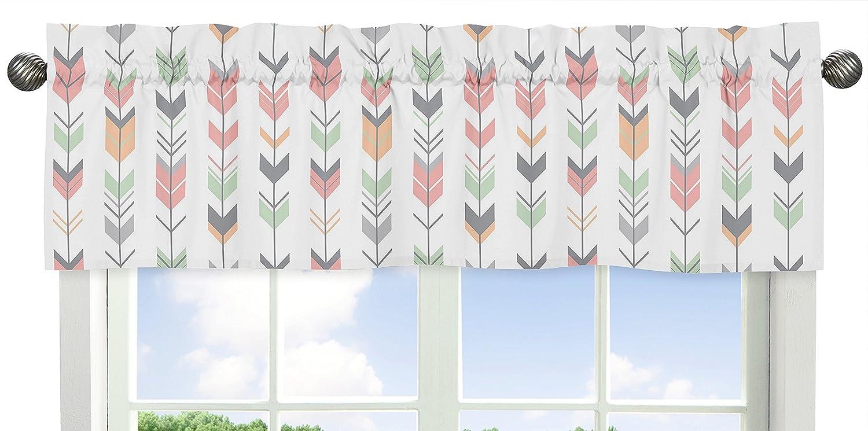 Grey Minneapolis Mall Coral and Mint Woodland Print Window Girls Valance Arrow New mail order