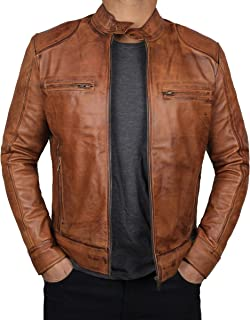 Brown Leather Jacket Men - Genuine Lambskin Mens Leather Jackets