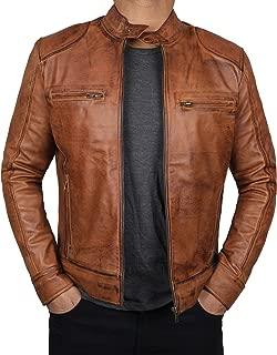 Brown Leather Jacket Men - Genuine Lambskin Mens Leather Jackets